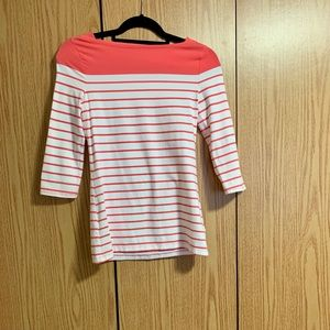 Peach nautical striped shirt